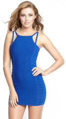 WOW COUTURE Strap Detail Dress M Blue