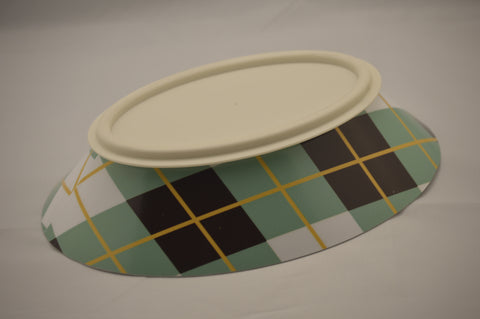 Green Argyle - Poochie Bowl Designer Series