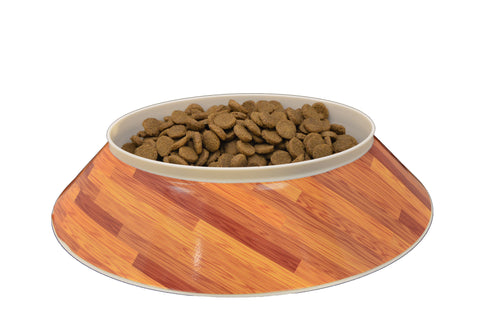 Wood Grain Poochie Bowl