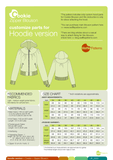 Waffle Patterns sewing patterns Zipper Blouson Cookie w customize hood parts