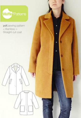 Straight cut coat -Bamboo- (size 34-48)