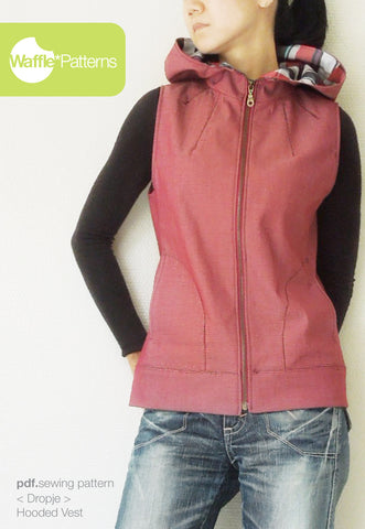 Hooded Vest -Dropje- (size 34-48)