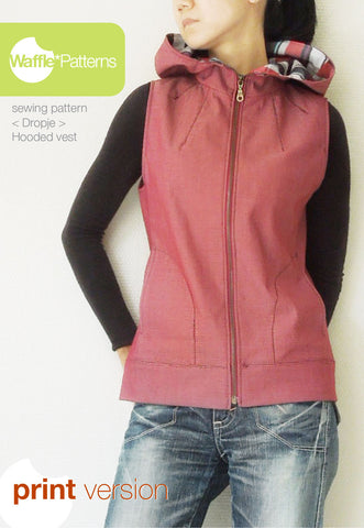 Hooded Vest -Dropje- (size 34-48) Printed paper sewing pattern