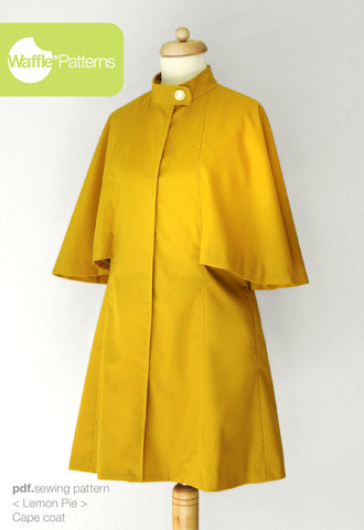 Cape Coat -Lemon Pie- (size 34-48)