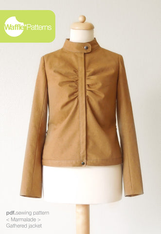 Gathered Jacket -Marmalade- (size 34-46)