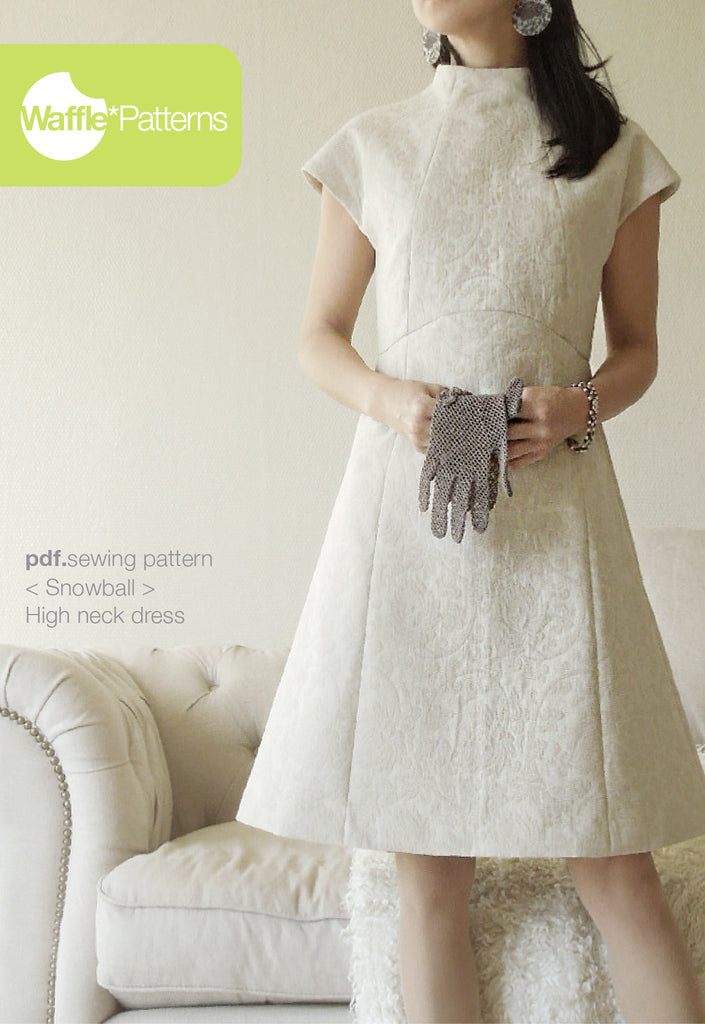 Waffle Patterns sewing patterns high neck dress Snowball