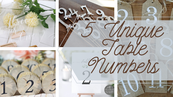 5 Unique Table Number Designs