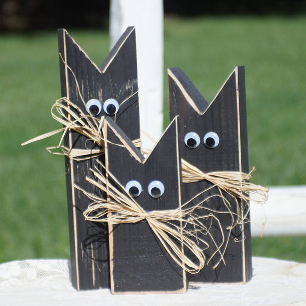Black Cat, Halloween Decoration-Halloween Decor-GFT Woodcraft