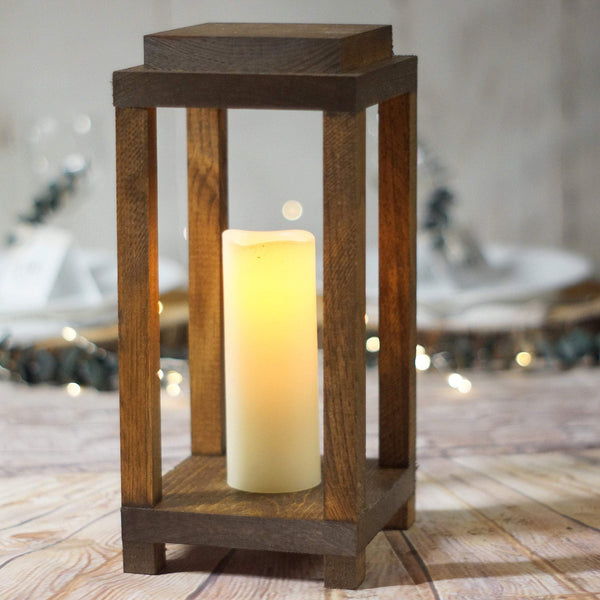 Candle lantern, rustic wedding centerpiece-LANTERN-GFT Woodcraft