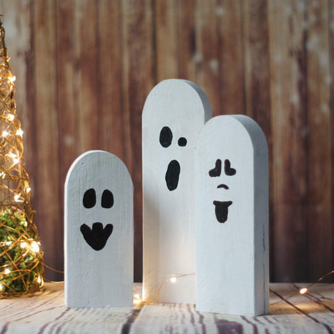 Fall Decor Halloween Ghosts, Rustic Halloween Decor-Halloween Decor-GFT Woodcraft