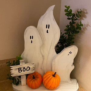 Fall Decor, Reclaimed Wood Ghosts-Halloween Decor-GFT Woodcraft