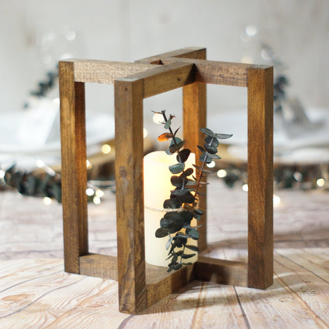 Lantern centerpiece, wedding decorations - GFT Woodcraft