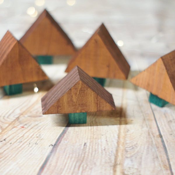 Brown Mini Christmas Tree Set-CHRISTMAS-GFT Woodcraft