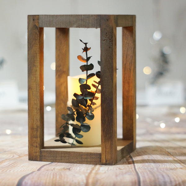 Wood Lantern rustic candle holder-LANTERN-GFT Woodcraft