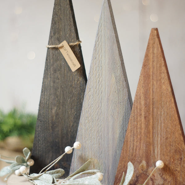 Christmas Trees in Brown, Black and Gray Farmhouse-CHRISTMAS-GFT Woodcraft