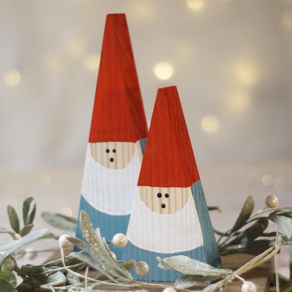 Mini Wood Gnome Set, Wooden Gnome-CHRISTMAS-GFT Woodcraft