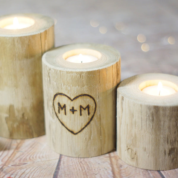 Personalized Candle Holder-Gifts-GFT Woodcraft