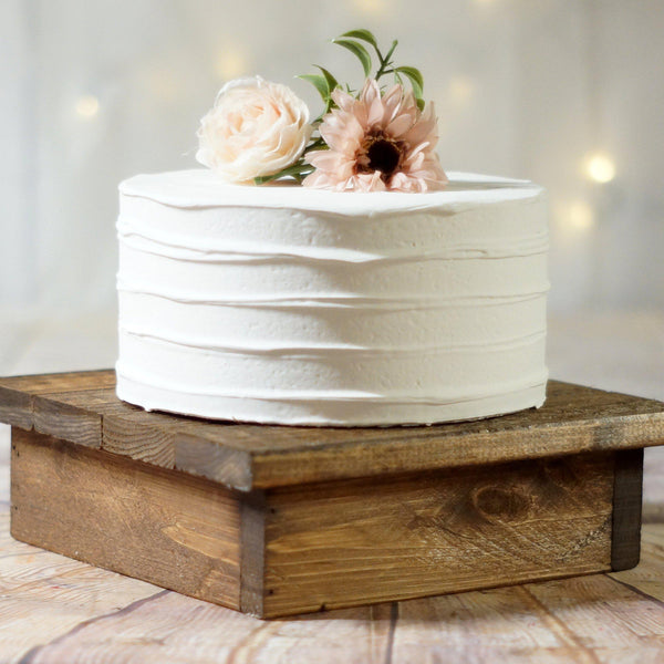"10"" Wood cake stand, reclaimed wood-Wedding-GFT Woodcraft"