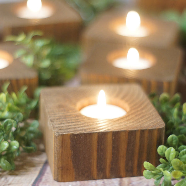 Candle Holders, 5 Reclaimed Wood-Candle Holders-GFT Woodcraft