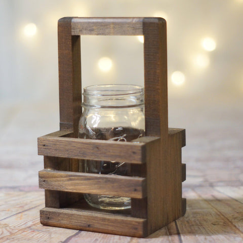 Box Centerpiece, Wishing Well Basket Brown-HOME DECOR-GFT Woodcraft