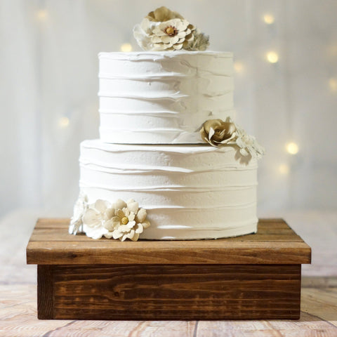 "12"" Wood cake stand-Wedding-GFT Woodcraft"