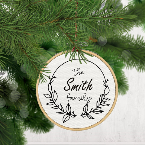 Christmas Ornament, Custom Monogram-CHRISTMAS-GFT Woodcraft