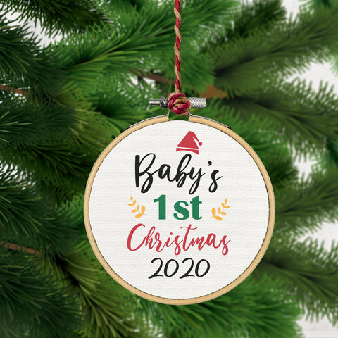 Christmas Ornament, Babys First 2020-CHRISTMAS-GFT Woodcraft