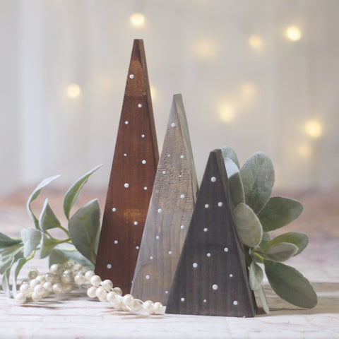 Christmas Trees, Small Black Gray Brown-CHRISTMAS-GFT Woodcraft