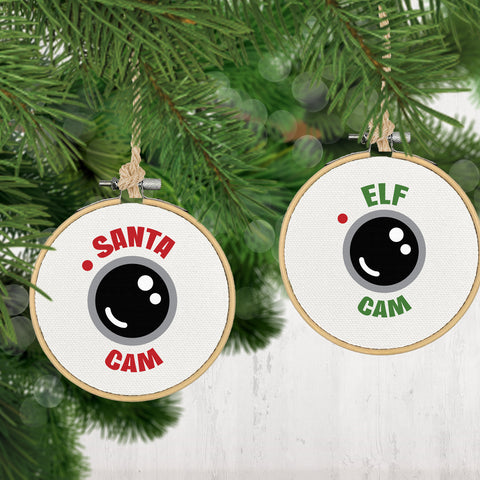 Christmas Ornament, Santa Cam or Elf Cam-CHRISTMAS-GFT Woodcraft