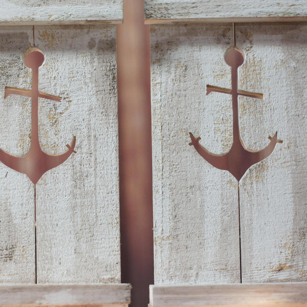 Nautical Anchor Pallet Wall Sconce-Home Decor-GFT Woodcraft