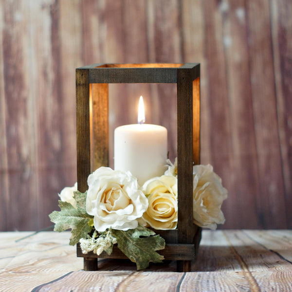 Reclaimed Wood Candle Lantern Centerpiece-LANTERN-GFT Woodcraft