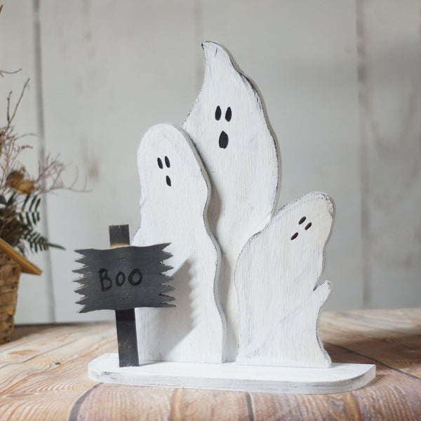 Reclaimed Wood Ghosts, Halloween Decor-Halloween Decor-GFT Woodcraft
