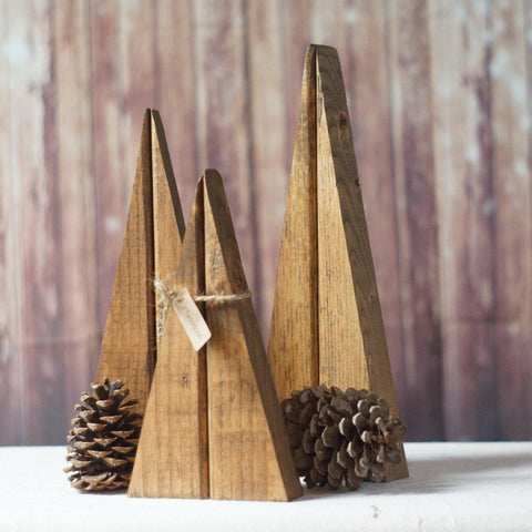 Christmas Trees, Reclaimed Wood Trees in Brown-Home Decor-GFT Woodcraft