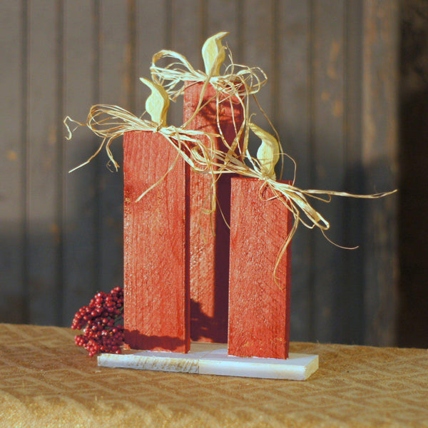 Christmas Candle Set of 3, Red-Christmas-GFT Woodcraft