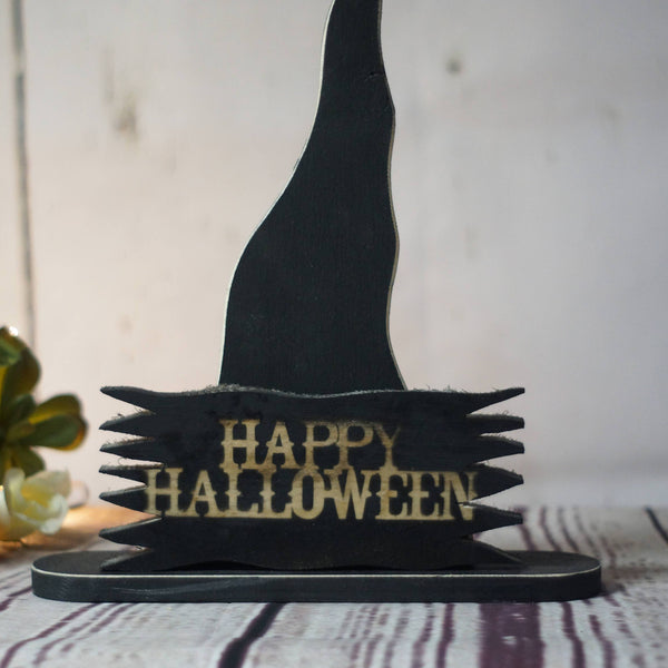 Rustic Halloween Witch Hat Shelf Sitter-HALLOWEEN-GFT Woodcraft