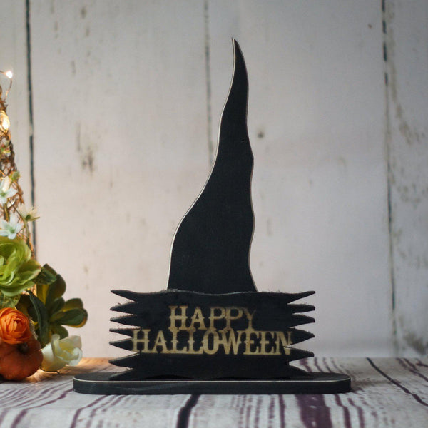 Fall Decor, Rustic Witch Hat Shelf Sitter-HALLOWEEN-GFT Woodcraft