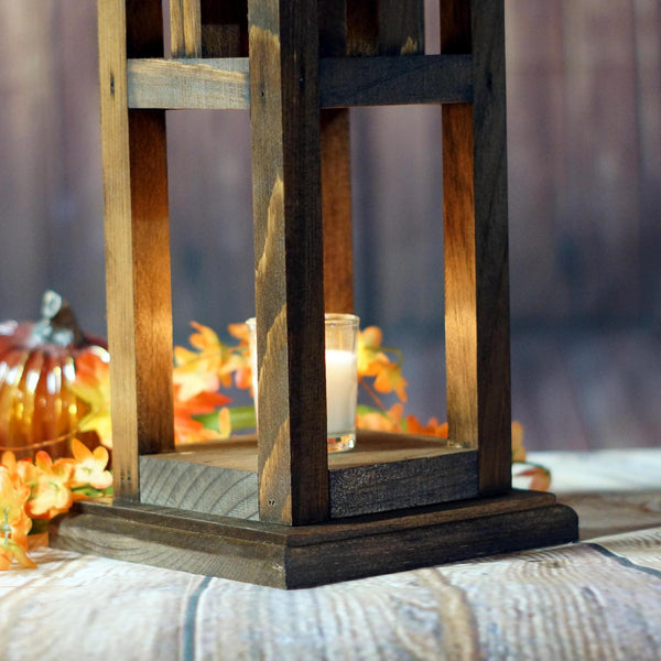 "Lantern, 10.5"" Craftsman, Brown-LANTERN-GFT Woodcraft"