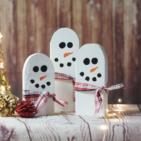 Wood Snowman Family-CHRISTMAS-GFT Woodcraft