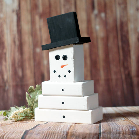 Wood Snowman, Hand Painted-CHRISTMAS-GFT Woodcraft