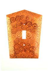Orange Copper Light Switch Covers