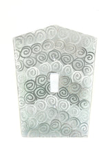 Silver Light Switch Covers on Aluminum