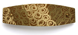 Hair barrette. Brass, Spirals engraving. French clip.