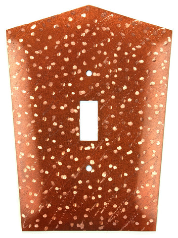 Metal Switch Cover. Penny Copper, Milky Way. Sealed. Screws