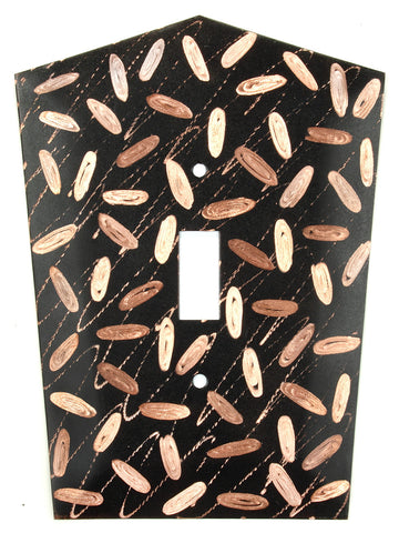 Metal Switch Cover. Black copper, Jellybeans. Sealed. Screws.