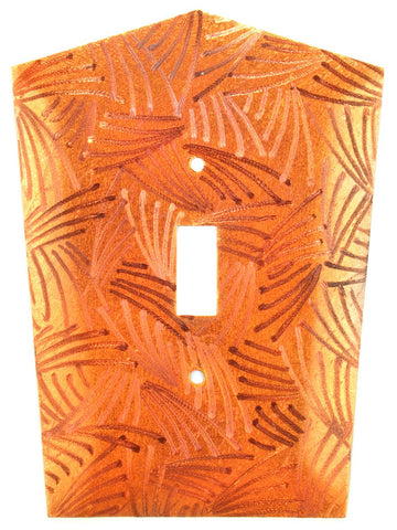 Metal Switch Cover. Orange Copper, Curvy. Sealed. Screws incl.