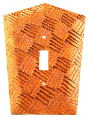 Metal Switch Cover. Orange Copper, Parquet. Sealed. Screws incl.