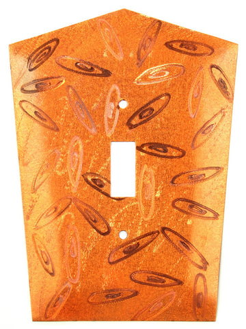 Metal Switch Cover. Orange Copper, Orbit. Sealed. Screws incl.