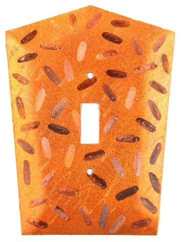 Metal Switch Cover. Orange Copper, Jellybeans. Sealed. Screws incl.