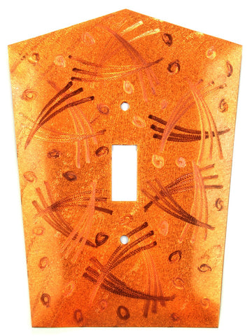 Metal Switch Cover. Orange Copper, Tokyo. Sealed. Screws incl.