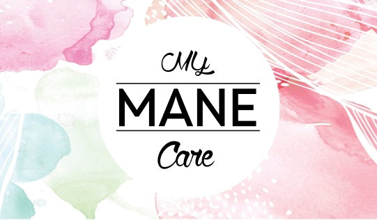 My Mane Care logo watercolour print artist mc marquis